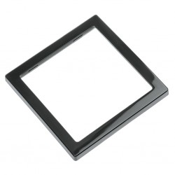 single cover frame, black, high gloss