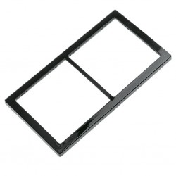 double cover frame, black, high gloss