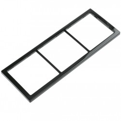 triple cover frame, black, high gloss