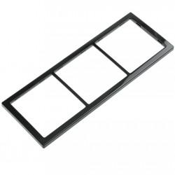 triple cover frame, black, high gloss