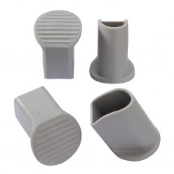 Floor protective caps, light grey, 4-piece set