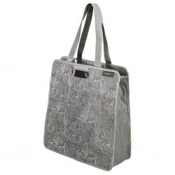 shopping bag meori, dust olive, cactus print