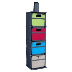 cabinet organiser, 3 compartments, for foldable boxes meori, Mini