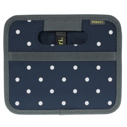 Folding box meori Mini, marine blue, dots