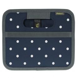 Folding box meori Mini, marine blue, dots