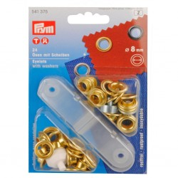 PRYM Eyelets with Slices ΓΈ 8 mm