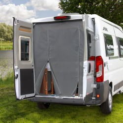 fly protection curtain, rear door can be operated from the outside or the inside