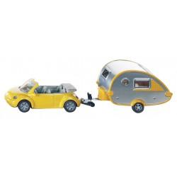 VW Beetle Convertible with Tab Caravan