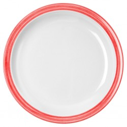dining plate, red