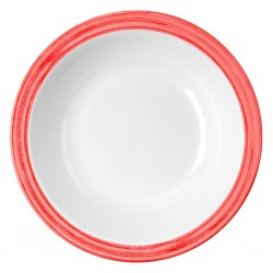 soup plate, red