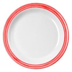 dessert plate, red