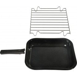 Pan incl. grill and handle...