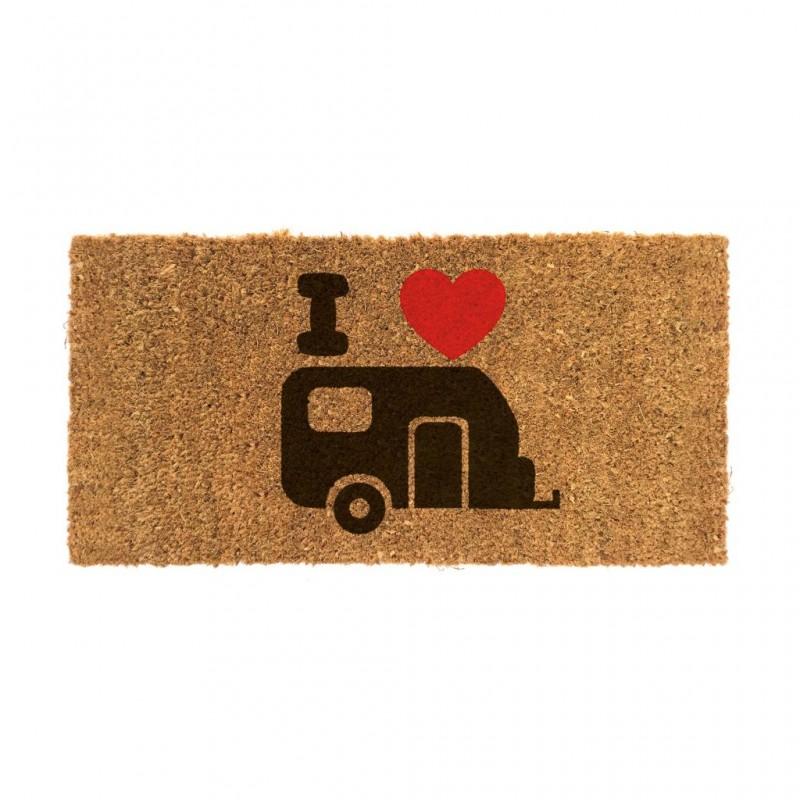 Coconut Door Mat with Caravan