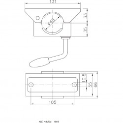Clamp for Tube ΓΈ 48 mm