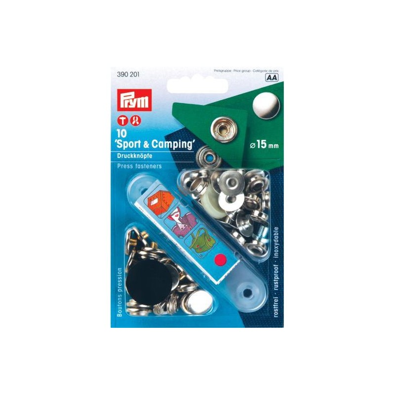 PRYM-Snap Fasteners Sport and Camping
