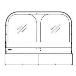 Window Insert Front Thule QuickFit 3 - 3.1 m