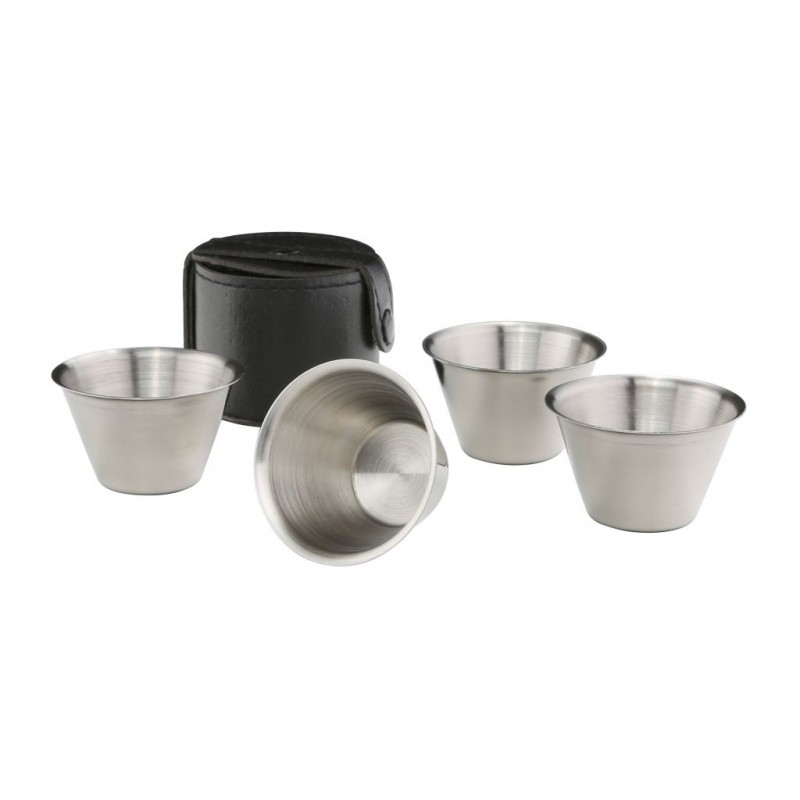 Cup Set in Leather Case