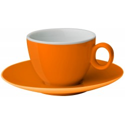 Espresso cup&saucer orange