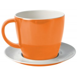 Cup and saucer orange