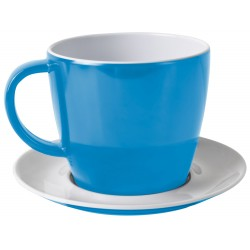 Cup and saucer blue