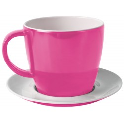 Cup and saucer pink
