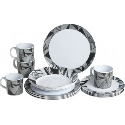Melamine Set Grafic (16pcs)