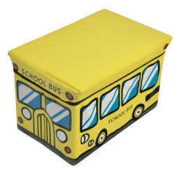 storage box/ storage ottoman, school bus design