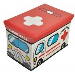 storage box/ storage ottoman, ambulance design