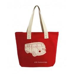 Βαμβακερή Τσάντα για ψώνια με φερμουάρ