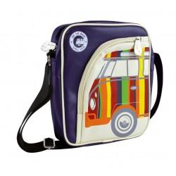 Τσάντα ώμου VW T1 Bus για Tablet/PC πορτρέτο, Stripes