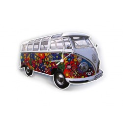 Ρολόι τοίχου VW T1 Bus, Flower Power
