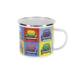 Κούπα από σμαλτο VW T1 Bus 500ml, Multicolor