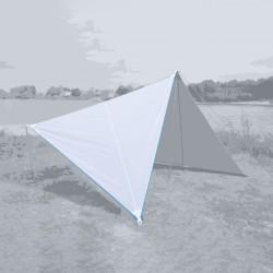 Canvas Plain White, Zipper Light Blue
