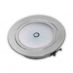 LED Recessed Spotlight with Touch Switch and Milk Glass
