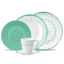 "Tableware Set ""Spring in Progress Green"", 16 Pieces"