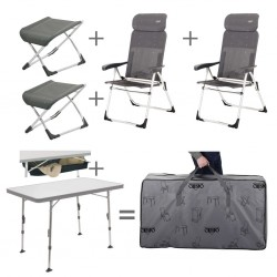 Chair/Table Set with Footrest, Unpadded