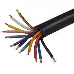 Cable, 12 Pins, Coloured Cable Cores