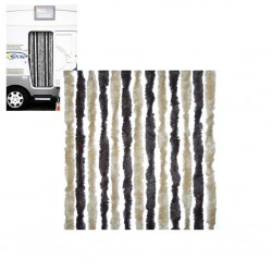 Door Curtain beige, dark brown for Motorhome 56 × 205 cm