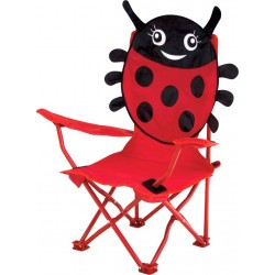 kids folding chair ladybug