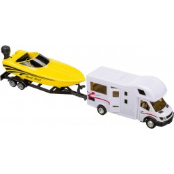 Motorhome with Boat Trailer