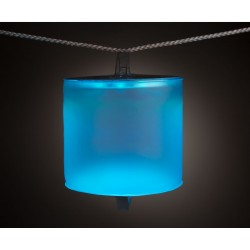Solar Lamp Blow Up Colour Light Blue