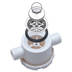 Double Drain Unit, with Removable Siphon, Drain pipe ΓΈ 25 mm