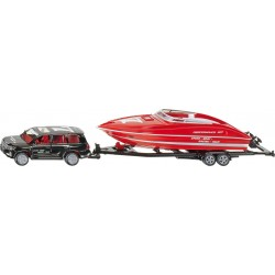 Passenger Car with Boat Trailer