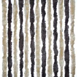 Chenille Door Curtain Dark Brown/Cream