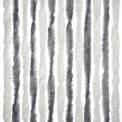 Chenille Door Curtain Grey/White