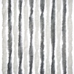 Door Curtain Grey/White