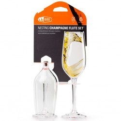 Champagne Glass Nesting Set of 2