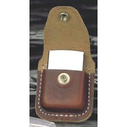 Zippo fuel lighter leather...