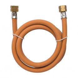 Medium Pressure Hose Line 1500 mm Both-Sided 3/8 LH Coupling Nut