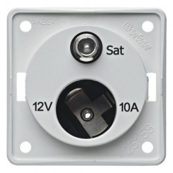 Antenna Socket White Matt